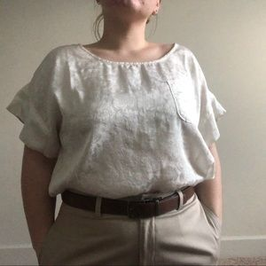 white satin blouse